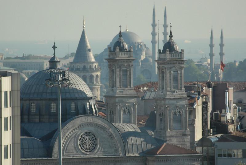 Istanbul, Turkey rooftops.
