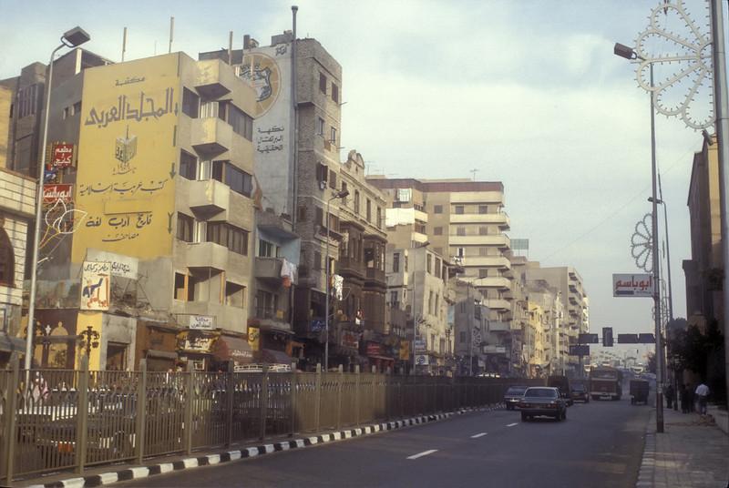 Typical Cairo, Egypt street.