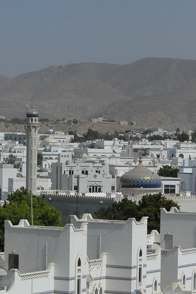 Mosque and greater Muscat, Oman.