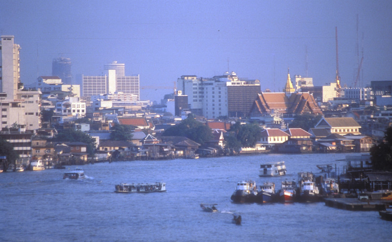 The Chao Praya River at Bangkok, Thailand.