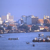 The Chao Praya River at Bangkok, Thailand.