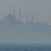 Mist over Golden Horn, close crop, Istanbul, Turkey.
