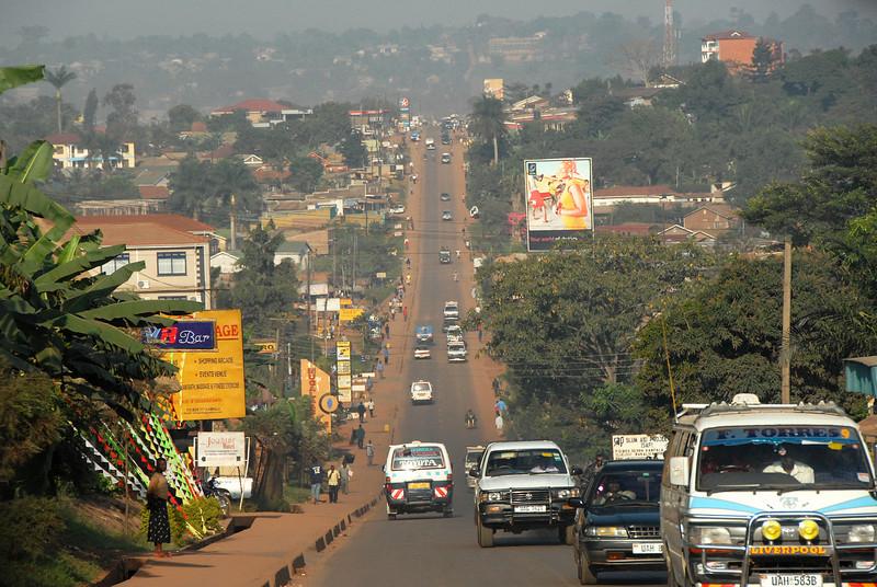 Kampala, Uganda traffic.