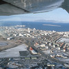 Reykjavik, Iceland from a small plane.