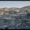 Waterfront and harbor, Hydra, Greek Islands.
