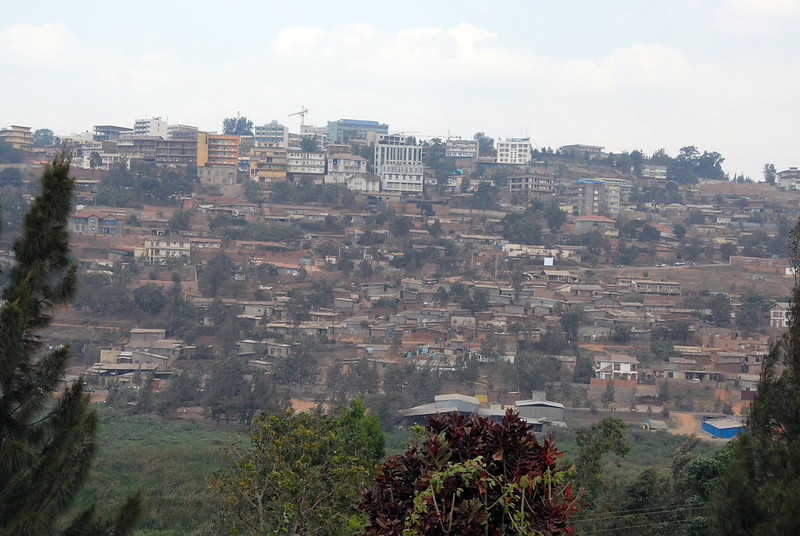 Kigali, capital of Rwanda, skyline.
