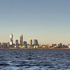 Perth, Australia from the Swan River.