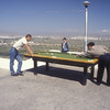 Outdoor billiards in Ulan Bataar, Mongolia.
