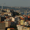 Begolyu district, the Bosphorus Strait and the Bosphorus bridge connecting Europe (near side) and Asia, Istanbul, Turkey.