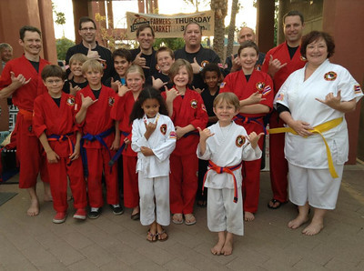 Lim Kenpo Family Demo at Chandler's Farmers Market