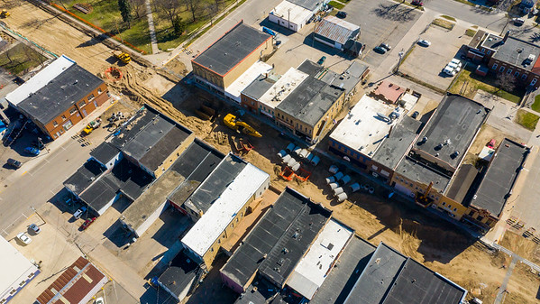 Sibley Ave Construction Downtown Litchfield
