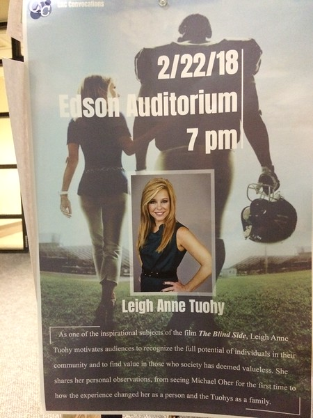 """<a href=""""http://events.morris.umn.edu/event/cac_convocations_presents_leigh_anne_tuohy"""">http://events.morris.umn.edu/event/cac_convocations_presents_leigh_anne_tuohy</a><br /> <br /> Leigh Anne Tuohy, the mother made famous in the book and movie """"The Blind Side"""" will be the speaker at the Feb. 22 convocation at the University of Minnesota Morris.<br /> <br /> Leigh Anne Tuohy part 1 of 2.mov<br /> <a href=""""https://youtu.be/PLjIIXJrNUs"""">https://youtu.be/PLjIIXJrNUs</a><br /> <br /> Exclusive Interview With One Of The Black Teens Who Encountered Leigh Anne Tuohy<br /> <a href=""""https://youtu.be/sPhb4CZioTc"""">https://youtu.be/sPhb4CZioTc</a><br /> <br /> Leigh Anne Tuohy-Giving of Ourselves-Greater Talent ... - YouTube<br /> <a href=""""https://www.youtube.com/watch?v=r6dFFw2dLZg"""">https://www.youtube.com/watch?v=r6dFFw2dLZg</a><br /> <br /> Exclusive Interview With One Of The Black Teens Who Encountered Leigh Anne Tuohy<br /> <a href=""""https://youtu.be/sPhb4CZioTc"""">https://youtu.be/sPhb4CZioTc</a><br /> <br /> Micheal Oher on The View<br /> <a href=""""https://youtu.be/FRnrwEvp6A0"""">https://youtu.be/FRnrwEvp6A0</a><br /> <br /> Interview: SJ Tuohy - Marialana 002<br /> <a href=""""https://youtu.be/zawvszP0aSc"""">https://youtu.be/zawvszP0aSc</a><br /> <br /> How Michael Oher Overcame Unbelievable Challenges And Poverty To Become A Super Bowl Champion<br /> <a href=""""https://youtu.be/RSQIbkFeWu8"""">https://youtu.be/RSQIbkFeWu8</a><br /> <br /> <a href=""""http://www.nfl.com/player/michaeloher/71419/profile"""">http://www.nfl.com/player/michaeloher/71419/profile</a><br /> <br /> Inspired Living Interview: Quinton Aaron from """"The Blind Side""""<br /> <a href=""""https://youtu.be/jWU3a-xRDlY"""">https://youtu.be/jWU3a-xRDlY</a>"""