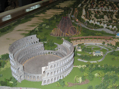 A replica of the coliseum will be constructed, what its going to be used for I don't know.