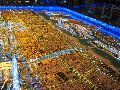 The mock up of Jumeirah Garden City (formerly Satwa, Al Wasl).  All the land off shore is new!
