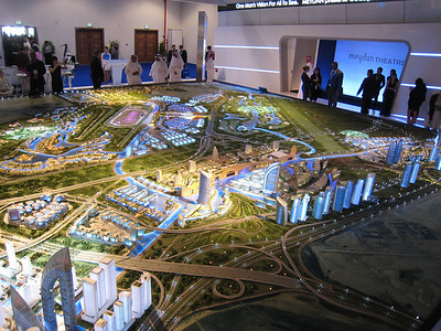 Al Meydan development including the new horse racing track