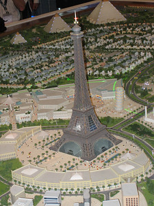 Falcon City will include a replica of the Eiffel Tower that will be 1.5 times bigger than the original in Paris.