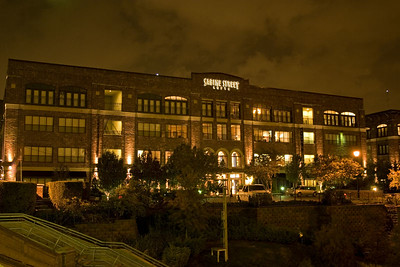 Stock photo of the Sabine Street Lofts in Houston.  The Houston skyline is directly across from this building.