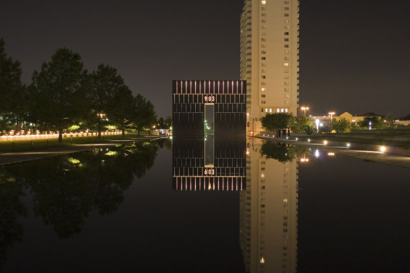 Stock photo of the west gate of the Oklahoma City National Memorial.  This signifies the moment we were changed forever.