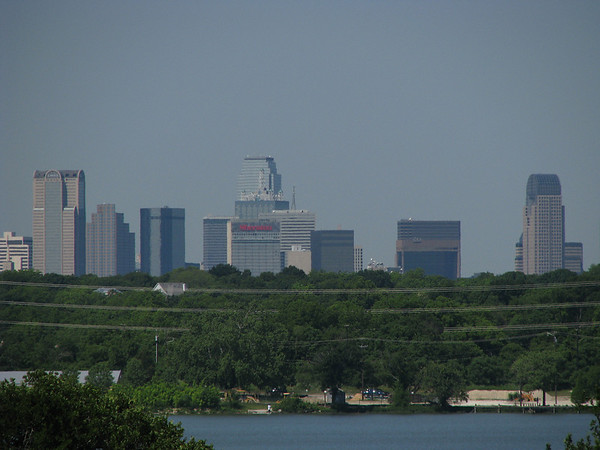 Downtown Dallas viewed from the east shore of White Rock Lake (20080518_05579)