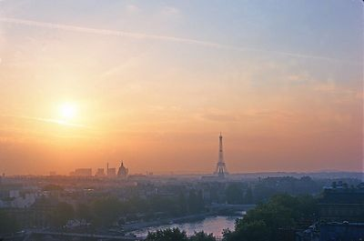 Paris sunset with Eiffel Tower