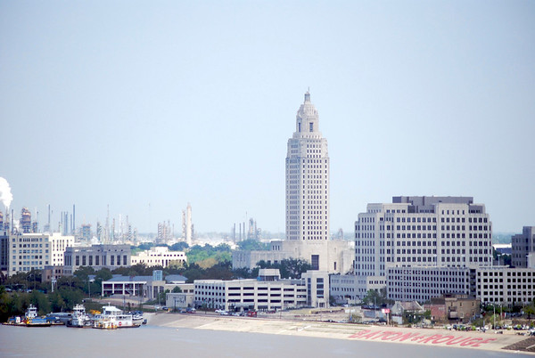 Downtown Baton Rouge<br /> <br /> Taken from the New Mississippi River Bridge, downtown Baton Rouge<br /> (c)2011 skElliottPhotography.com