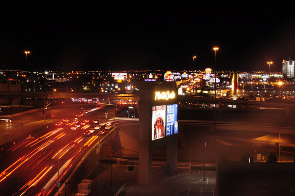 Las Vegas at night from the top of New York New York parking structure.<br /> <br /> (c)2011 skElliottPhotography.com