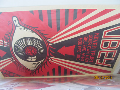 Hand Signed open edition print from Shepard Fairey!