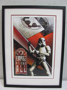 Empire before all!! limited edition Lucas film  print.
