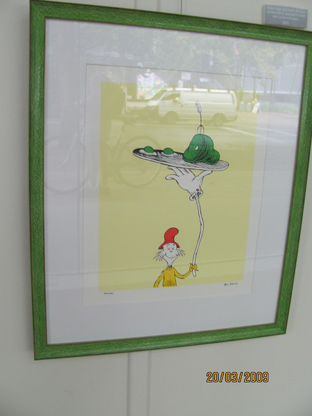 Green Eggs and Ham!! genuine limited edition serigraph from Dr Seuss!