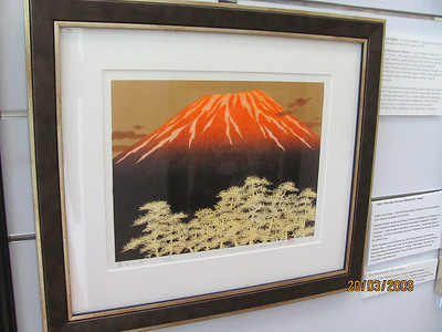 Amazing authentic hand carved woodblock print  with oils and gold leaf