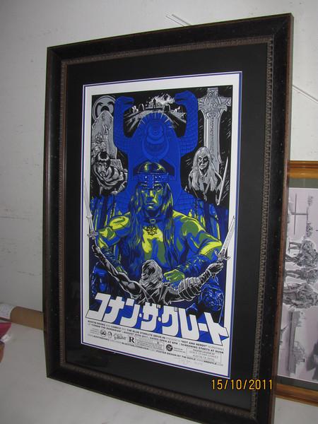 Amazing alternate movie art for the original Conan, Japanese title text