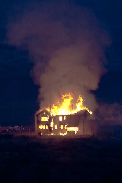 "Clarkdale ""Mansion"" Fire, Peck's Lake Area, Clarkdale, AZ, 6/25/2010 5:03 am"