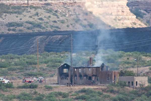 "Clarkdale ""Mansion"" Fire, Peck's Lake Area, Clarkdale, AZ, 6/25/2010, 6:23 am"