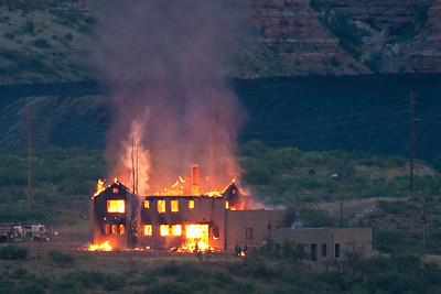 Clark Mansion Fire, 6-25-2010