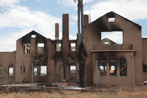 "Clarkdale ""Mansion"" Fire, Peck's Lake Area, Clarkdale, AZ, 6/25/2010"