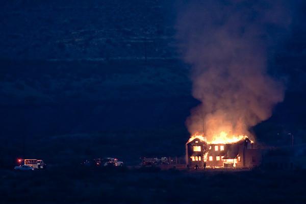 "Clarkdale ""Mansion"" Fire, Peck's Lake Area, Clarkdale, AZ, 6/25/2010 5:06 am"
