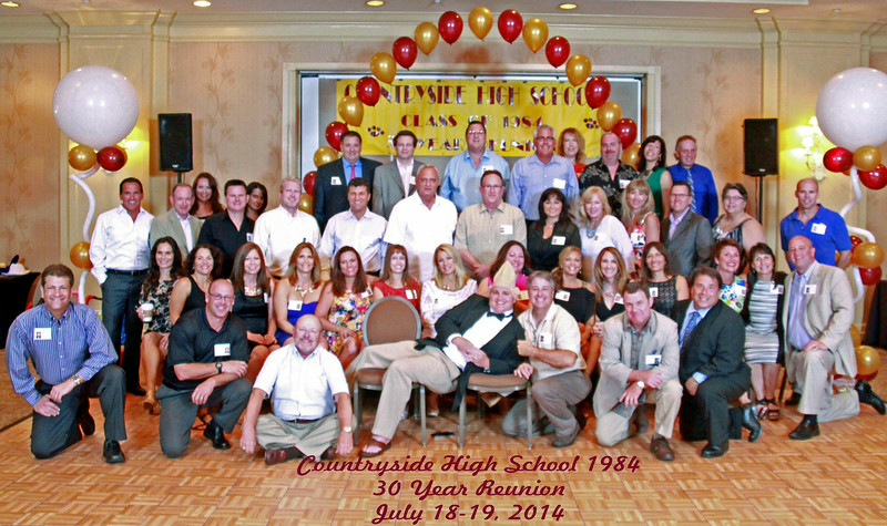 Countryside High School Class of 1984 30 Year Reunion July 18-19, 2014