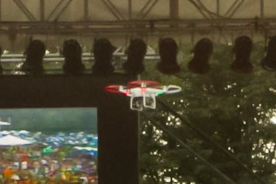 drone over stage