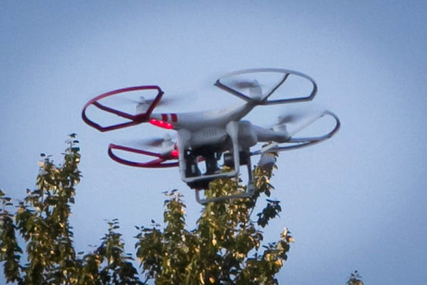 the drone with go-pro