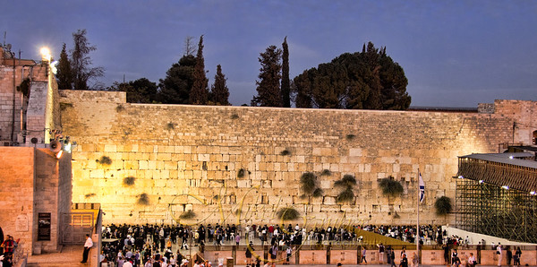 Western Wall twilight
