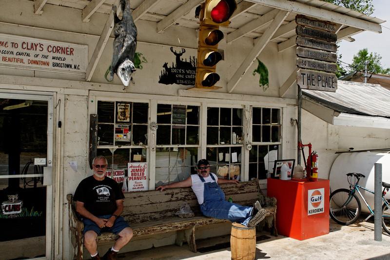 Clay's Corner, Brasstown, NC.  Possum Capital of the World.