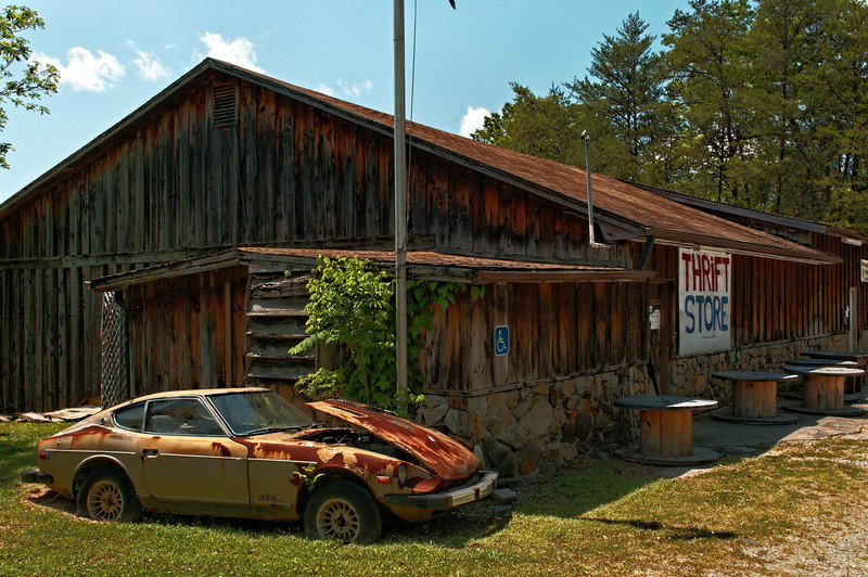 Handicapped Parking - Thrift Shop, Warne, NC
