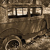 Bonnie and Clyde's Car - Note Bullet Holes