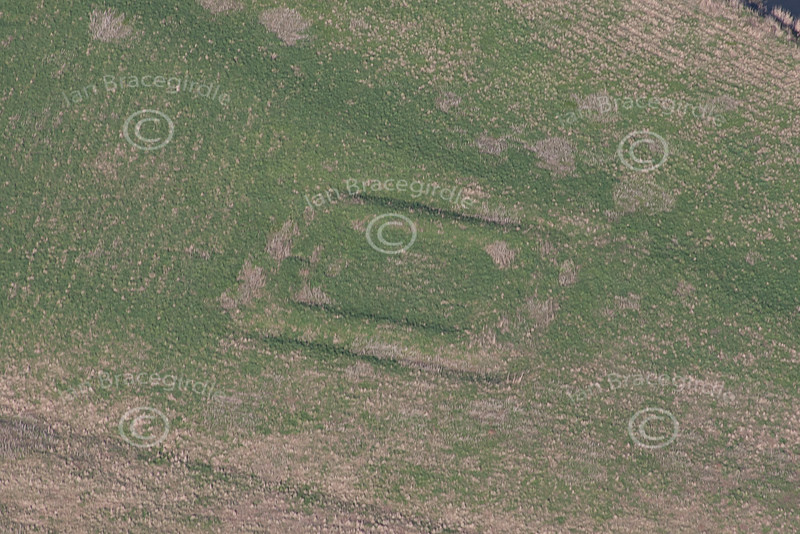 Crankley Point, English Civil War Earthworks from the air.