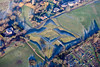 An aerial photo of the English Civil War Queens Sconce in Newark, Nottinghamshire.
