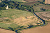 An aerial photo of Hawton.