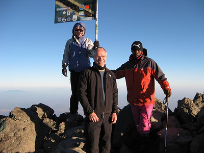 Summit of Mt. Meru,  elevation approximately 15,000 ft.
