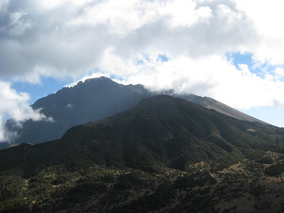 Mt. Meru visible from nearby our first camp