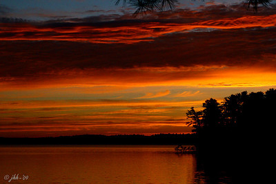 Sunrise on Trout Lake - Vilas County Wisconsin - at Coon's Franklin Lodge