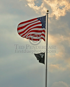 Flag At Town Hall - Belmont,Mass. - August 10th,2006